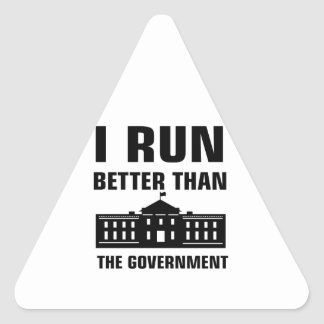 Run better than the Government Triangle Sticker