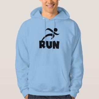RUN Black Hoodie