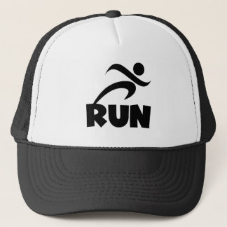 RUN Black Trucker Hat