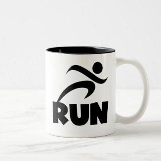 RUN Black Two-Tone Coffee Mug