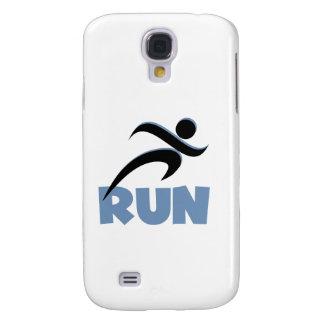 RUN Blue Samsung Galaxy S4 Case