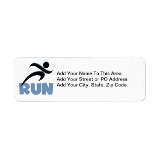 RUN Blue Return Address Labels