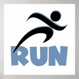 RUN Blue Poster