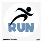 RUN Blue Wall Sticker
