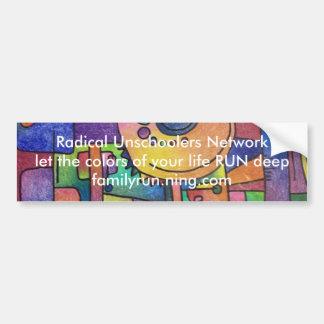 RUN bumper sticker Car Bumper Sticker