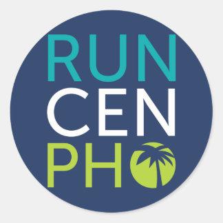Run Cen Pho Round Sticker
