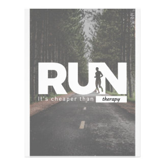 Run Cheaper Than Therapy Running Runners Treatment Letterhead