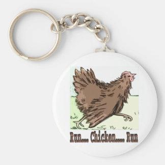 Run Chicken Run Keychain
