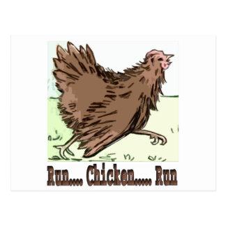 Run Chicken Run Post Card