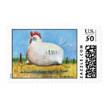 Run chicken, run! Stamps