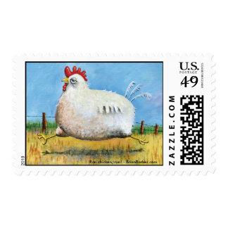 Run chicken, run! Stamps