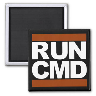 Run CMD 2 Inch Square Magnet
