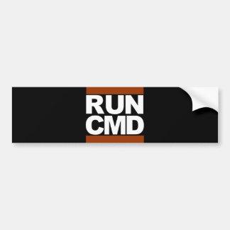 Run CMD Bumper Sticker