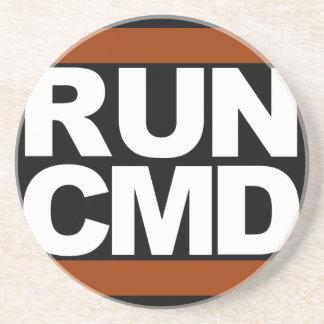 Run CMD Sandstone Coaster
