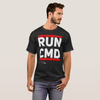 Run CMD T-Shirt Computer Geek Humor