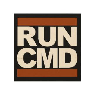 Run CMD Wood Print