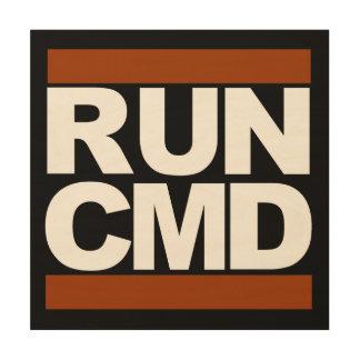 Run CMD Wood Wall Decor