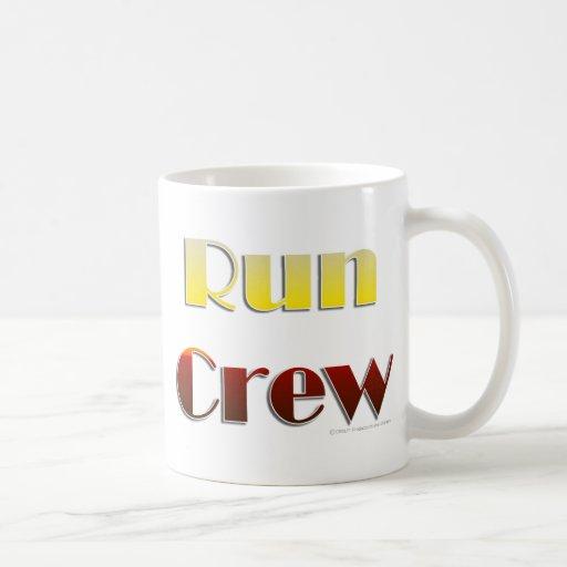 Run Crew (Text Only) Classic White Coffee Mug