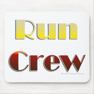 Run Crew Text Only Mouse Mats