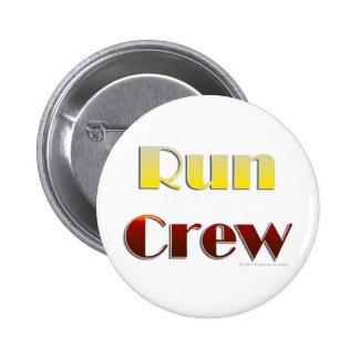 Run Crew (Text Only) Pinback Button