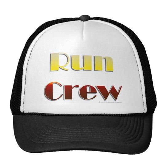 Run Crew (Text Only) Trucker Hat