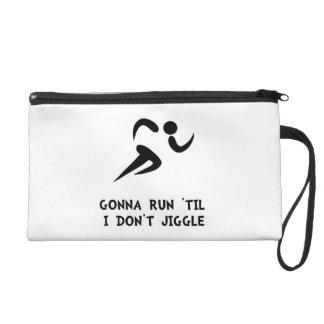Run Don?t Jiggle Wristlet