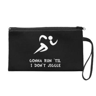 Run Don?t Jiggle Wristlet Purse