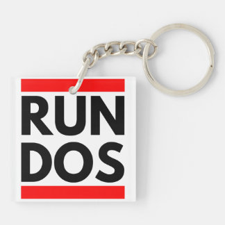 RUN DOS Double-Sided SQUARE ACRYLIC KEYCHAIN