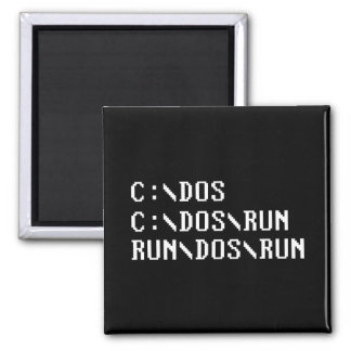 RUN DOS RUN 2 INCH SQUARE MAGNET