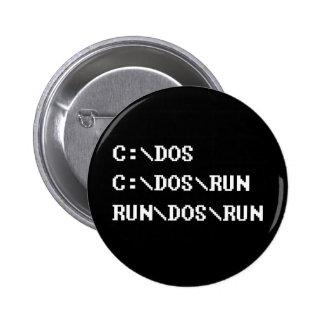 run dos run pinback button