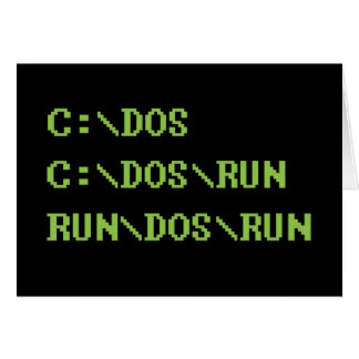 run dos run card