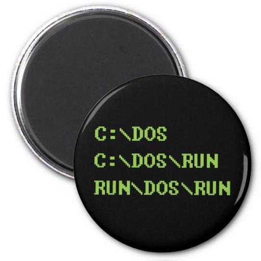 run dos run fridge magnets