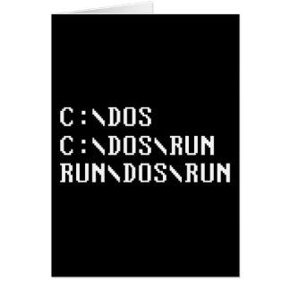 RUN DOS RUN GREETING CARD