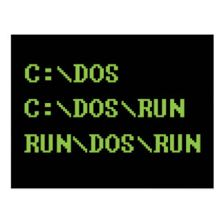 run dos run postcard