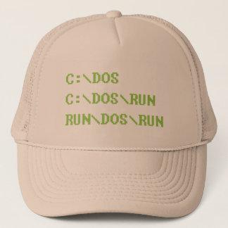 run dos run trucker hat
