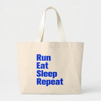 run-eat-sleep-repeat-ak-blue png canvas bags