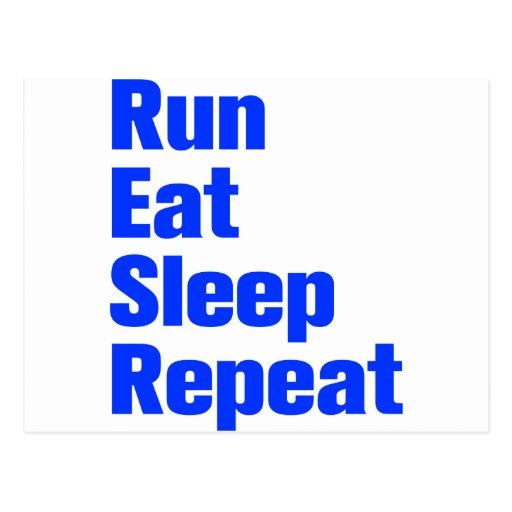 run-eat-sleep-repeat-ak-blue.png postcard | Zazzle