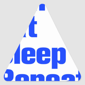 run-eat-sleep-repeat-ak-blue.png triangle sticker