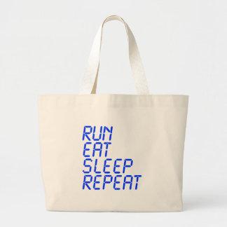 run-eat-sleep-repeat-lcd-blue png tote bags