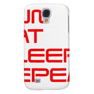 run-eat-sleep-repeat-SAVED-RED.png Funda Para Galaxy S4