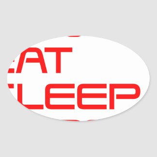 run-eat-sleep-repeat-SAVED-RED.png Oval Sticker