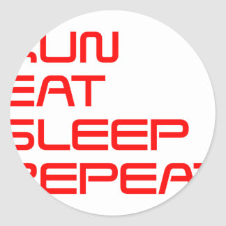 run-eat-sleep-repeat-SAVED-RED.png Classic Round Sticker