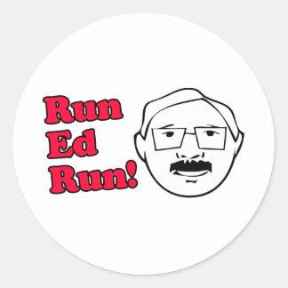 Run Ed Run Classic Round Sticker