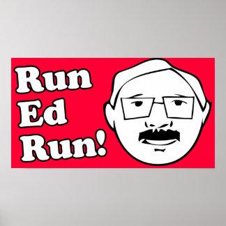 Run Ed Run San Francisco Poster