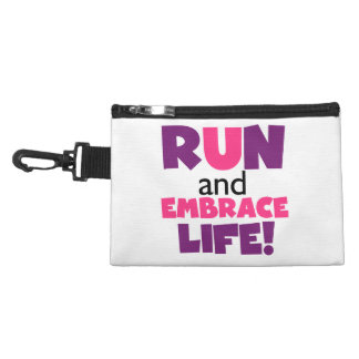 Run Embrace Life Purple Pink Accessory Bag