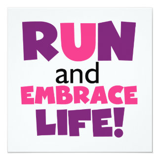 Run Embrace Life Purple Pink Card
