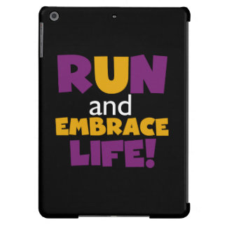 Run Embrace Life Purple Yellow Cover For iPad Air