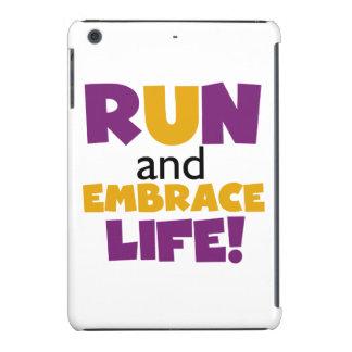 Run Embrace Life Purple Yellow iPad Mini Retina Cover