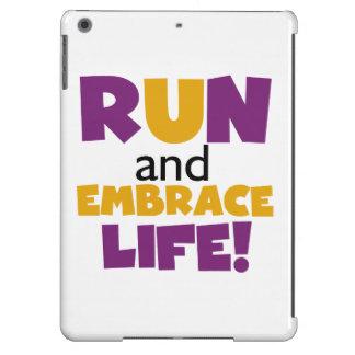 Run Embrace Life Purple Yellow iPad Air Cover