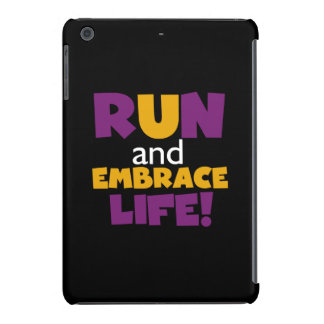 Run Embrace Life Purple Yellow iPad Mini Retina Case